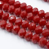 FLTMRH   Wholesale AB clear  145pcs Crystal Glass Rondelle Faceted Loose Spacer Beads DIY 4mm