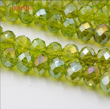 AB Color 4MM 145 piece/lot Spacer Cut Faceted Crystal Beads Charm Glass Stand Beads strings for DIY Jewelry Making