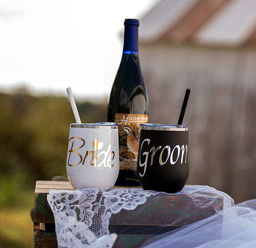Bride and Groom Tumbler set