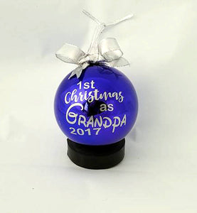 Grandpa First Christmas ornament