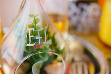 Personalized succulent glass hanging terrarium