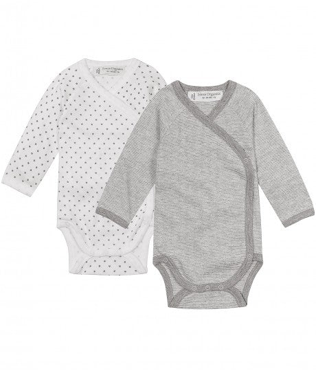 Baby Tiebody longsleeves Ygon in Organic Cotton