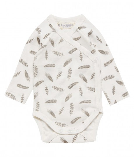 Premature Baby Tiebody longsleeve Ygon in Organic Cotton