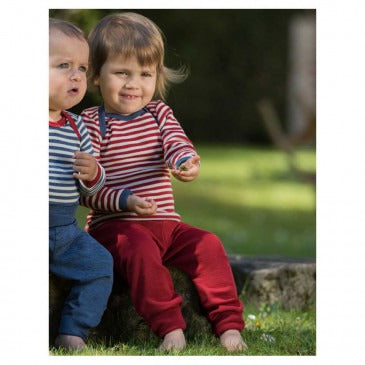 Baby & Toddler pants long with waistband, organic wool