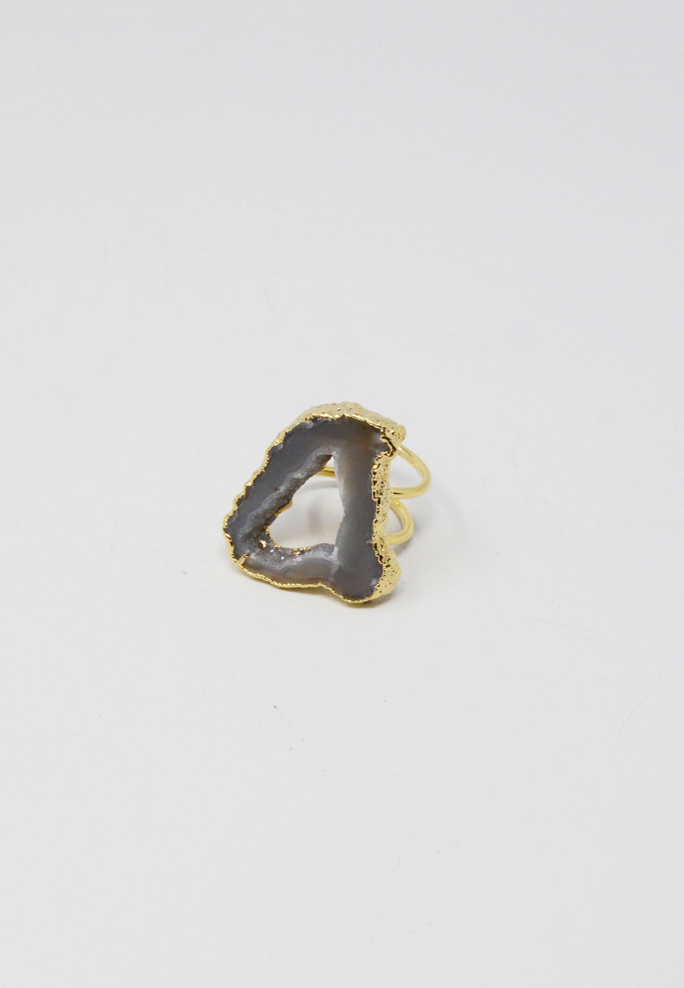 Agate Slice Ring - ANTHER a shop