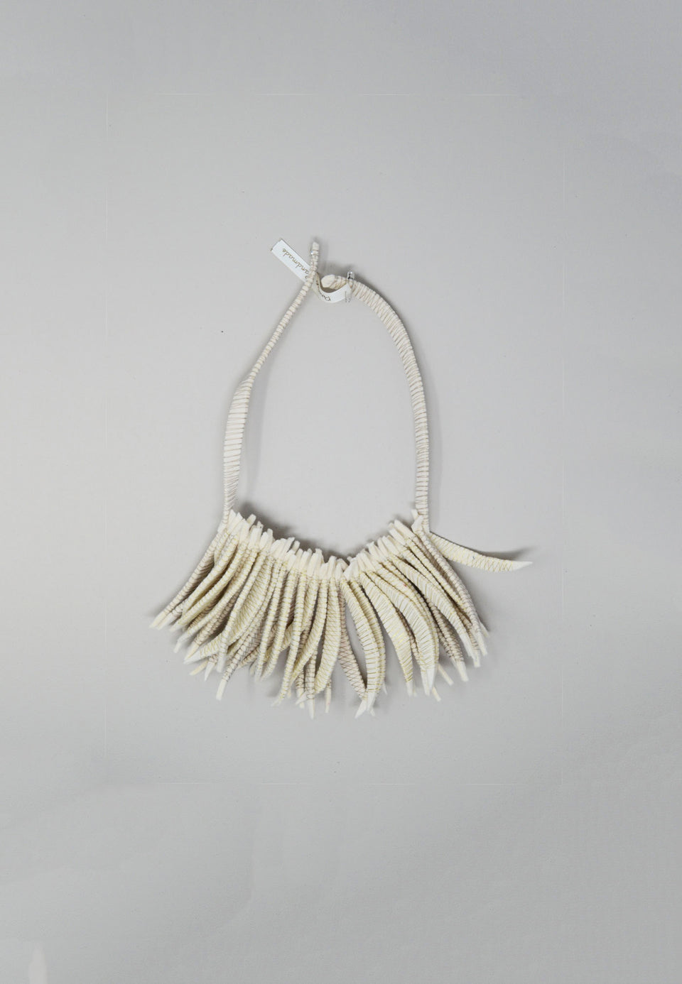 Flecos Fringe Necklace in Tan - ANTHER a shop