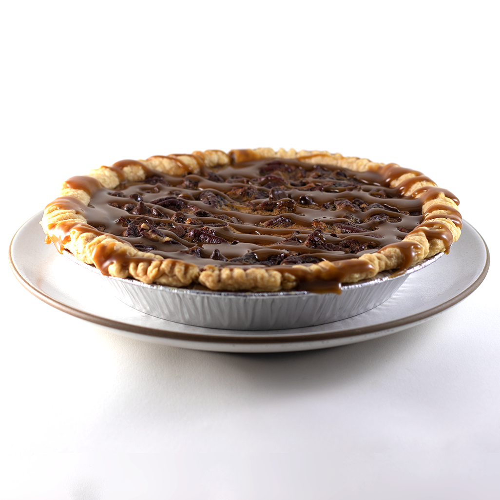 Dark Chocolate Bourbon Pecan Pie