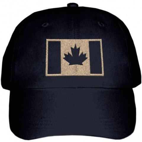 Military Ballcap with Tan Flag