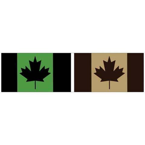 Canadian Military Flags Bumper Sticker