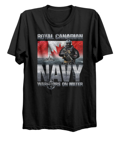 Warriors on Water Navy T-Shirt