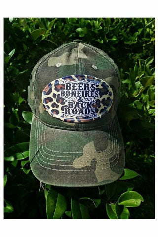 Beers Bonfires & Back Roads Hat