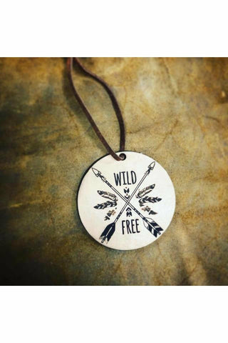 Wild & Free  Scented Leather Car Freshener