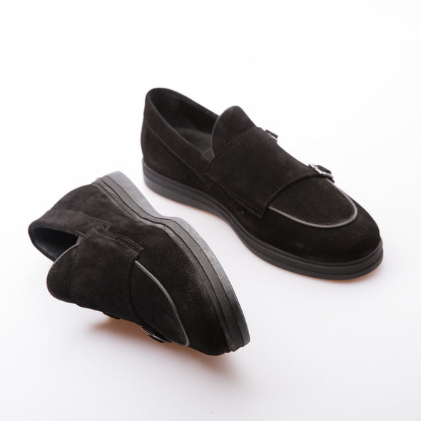 Raven - Black - Waxy Suede - BUB Leather Shoes