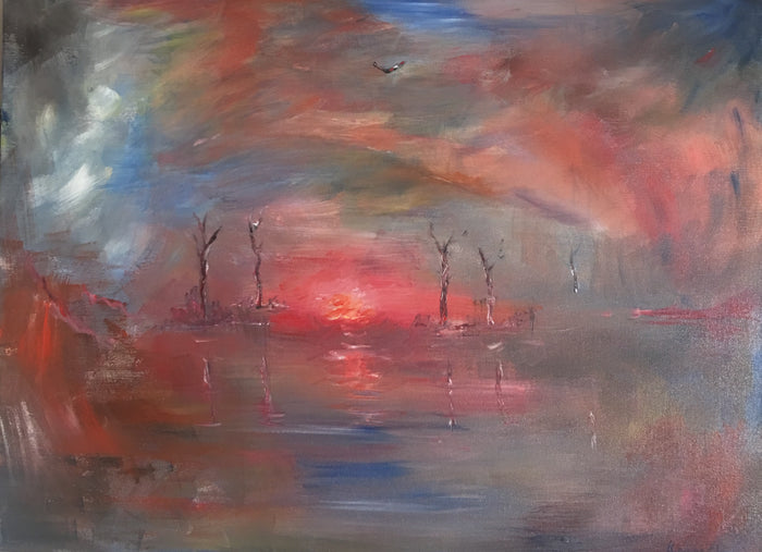 'Burning Lake'  -  Original Painting