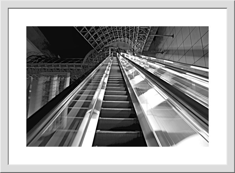 Moving Forward, Kyoto Station - Black and White