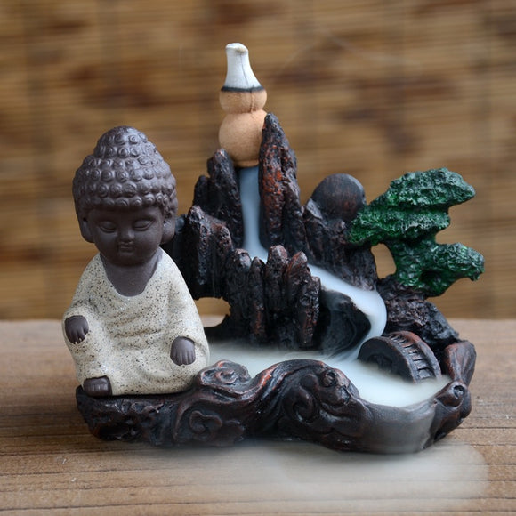 Buddha Monk Backflow Incense Burners