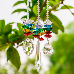 Chakra Crystal Suncatchers - 3 piece set