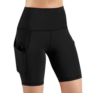 60% OFF -High Waist Workout Running Yoga Shorts Tummy Control Side Pockets(Buy 2 free shipping)