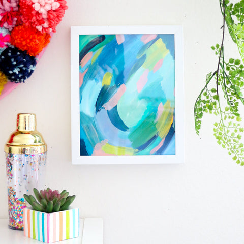 Pond Abstract Art Print
