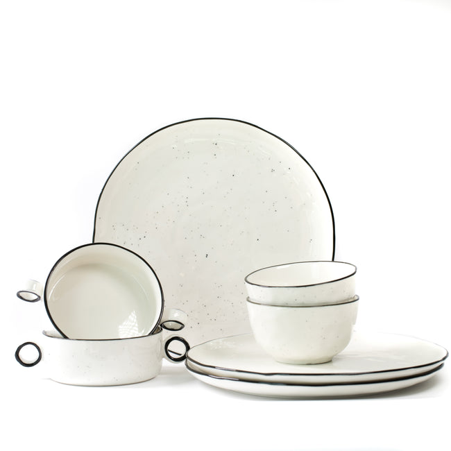 Snow Speckle Dinnerware Collection