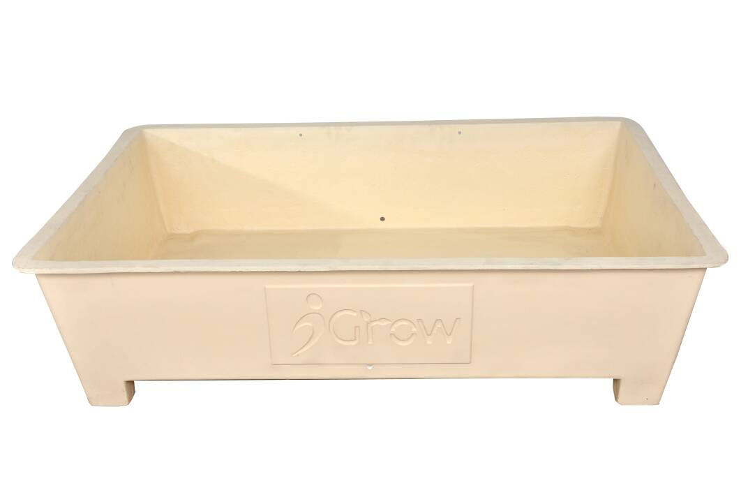 Terrace Garden FRP Planter Box  - Cream (3 Ft X 2 Ft)