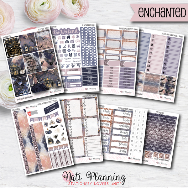 Enchanted - Weekly VERTICAL Sticker Kit