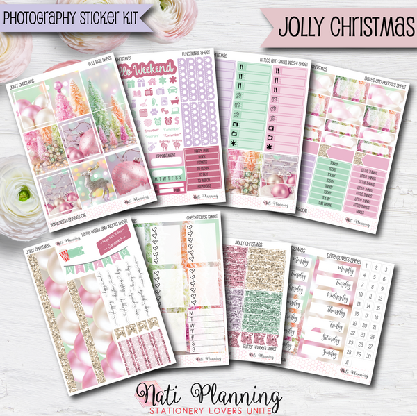 Jolly Christmas - Weekly VERTICAL Sticker Kit
