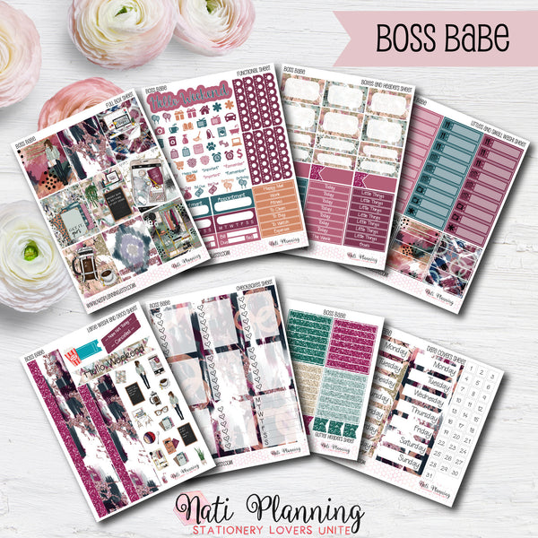 Boss Babe - Weekly VERTICAL Sticker Kit