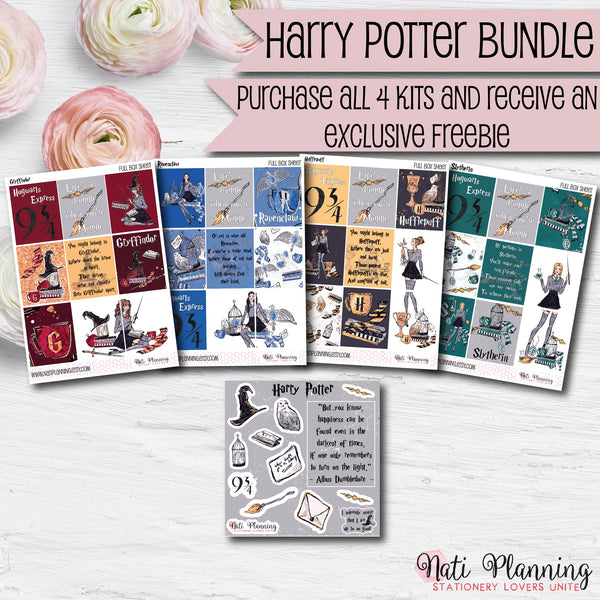 Wizardry Kit Bundle - Weekly Vertical Sticker Kits - Includes all 4 HP House Kits at a 20% Discount