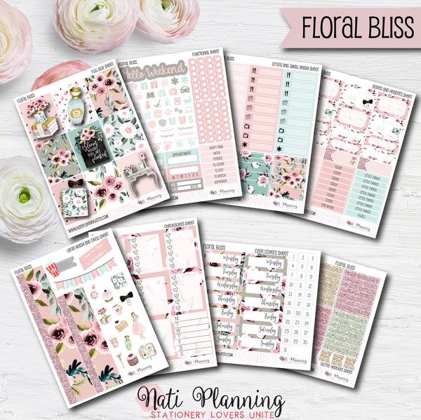 Floral Bliss - Weekly VERTICAL Sticker Kit