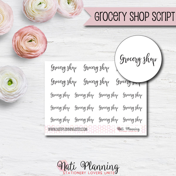 Grocery Shop Script Stickers