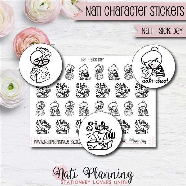 Nati - Sick Day Stickers