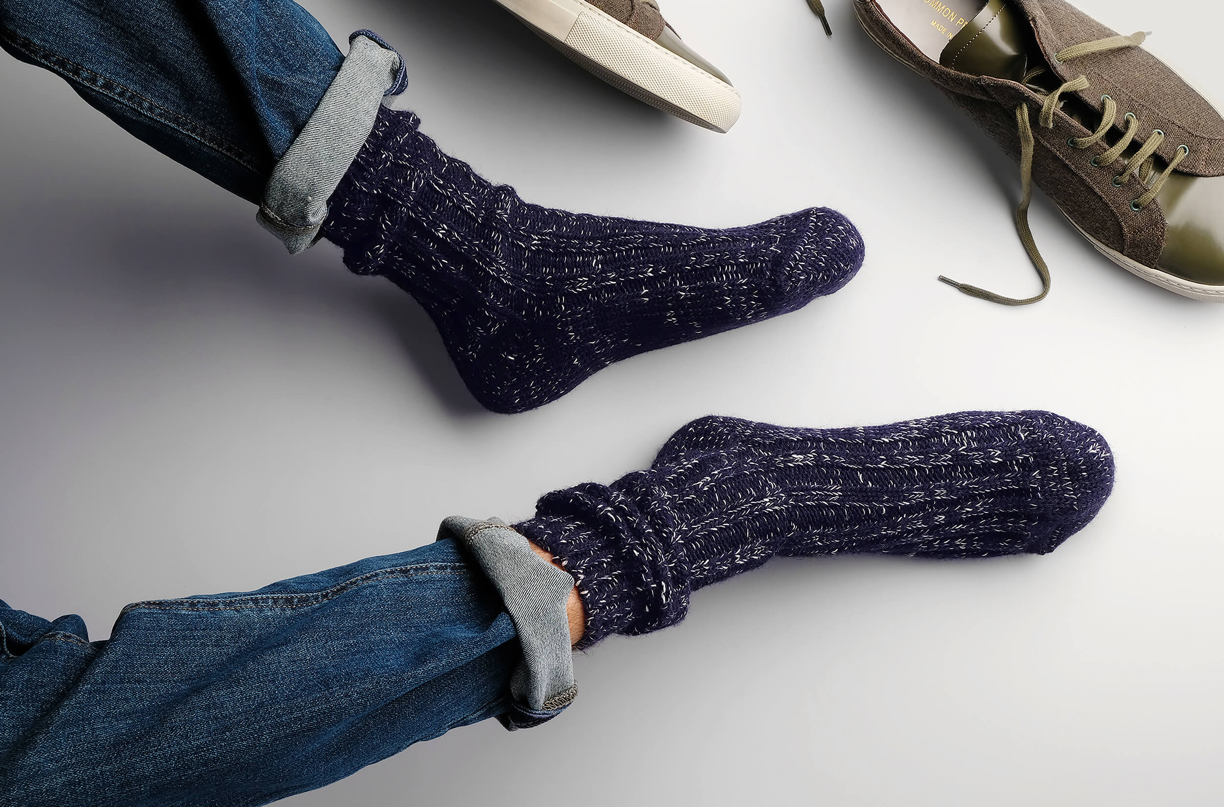 Men's Boot Socks & Boot Socks for Men with the Niseko Collection ⎪ Etiquette Clothiers, Made in Italy