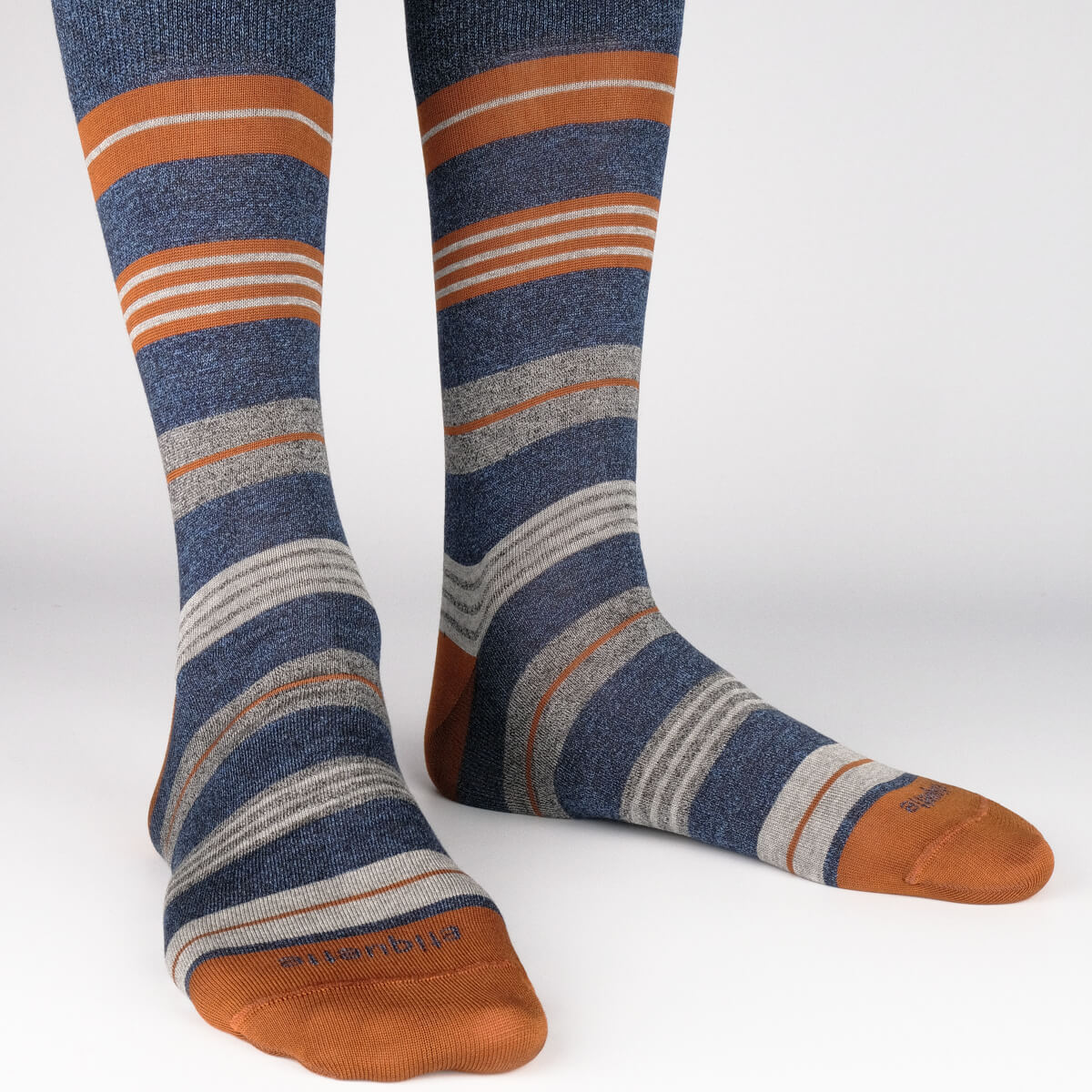 Mens Socks - Amsterdam Stripes Men's Socks - Blue⎪Etiquette Clothiers