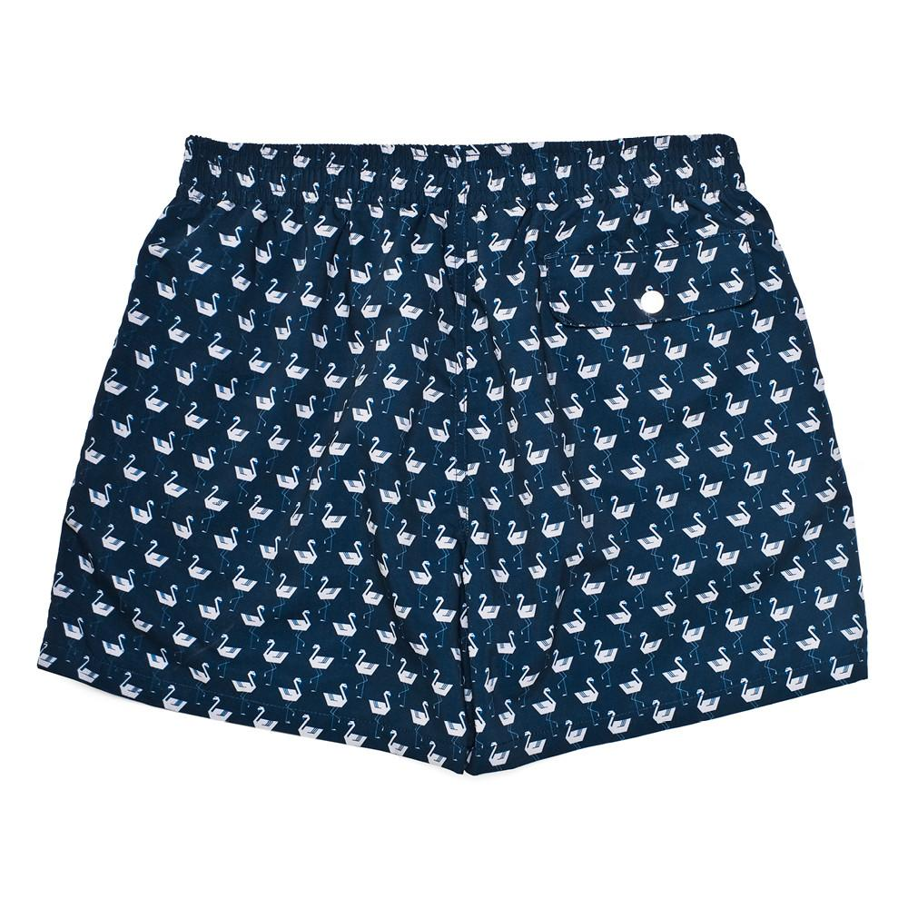Mens Swimwear - Men's Corsaro Swim Trunk Flamingo - Dark Blue⎪Etiquette Clothiers