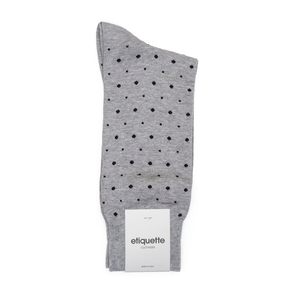 Mens Socks - Ball Point Men's Socks - Light Grey⎪Etiquette Clothiers