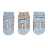 Baby Socks - Etiquette x Barneys Baby Boys Socks Bundle - Heather Blue and Grey⎪Etiquette Clothiers