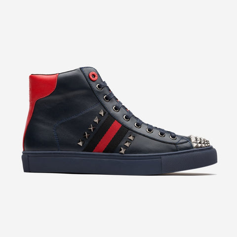 Men High-Top Shoes Black/Blue - Top High-top Shoes - OPP Official Store (OPP France)