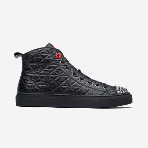 High Top Lace-Up Shoes Black - Top High-top Shoes - OPP Official Store (OPP France)