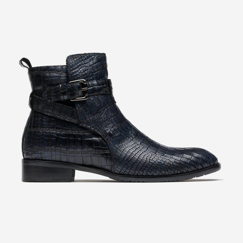 Men Ankle Boots Black/Blue - Top Ankle Boots - OPP Official Store (OPP France)