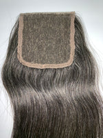 Natural Grey Straight Salt & Pepper Closure
