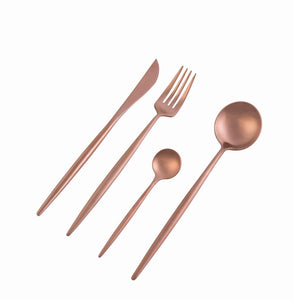 Dubai Rose Gold 16pc Cutlery Set