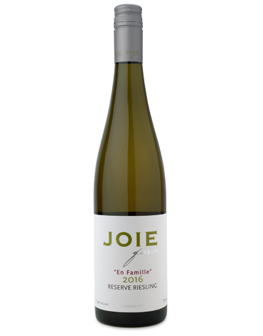 Bottle of JoieFarm En Famille Reserve Riesling 2016