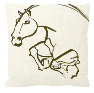 Comanche Throw Pillow by AtelierCG