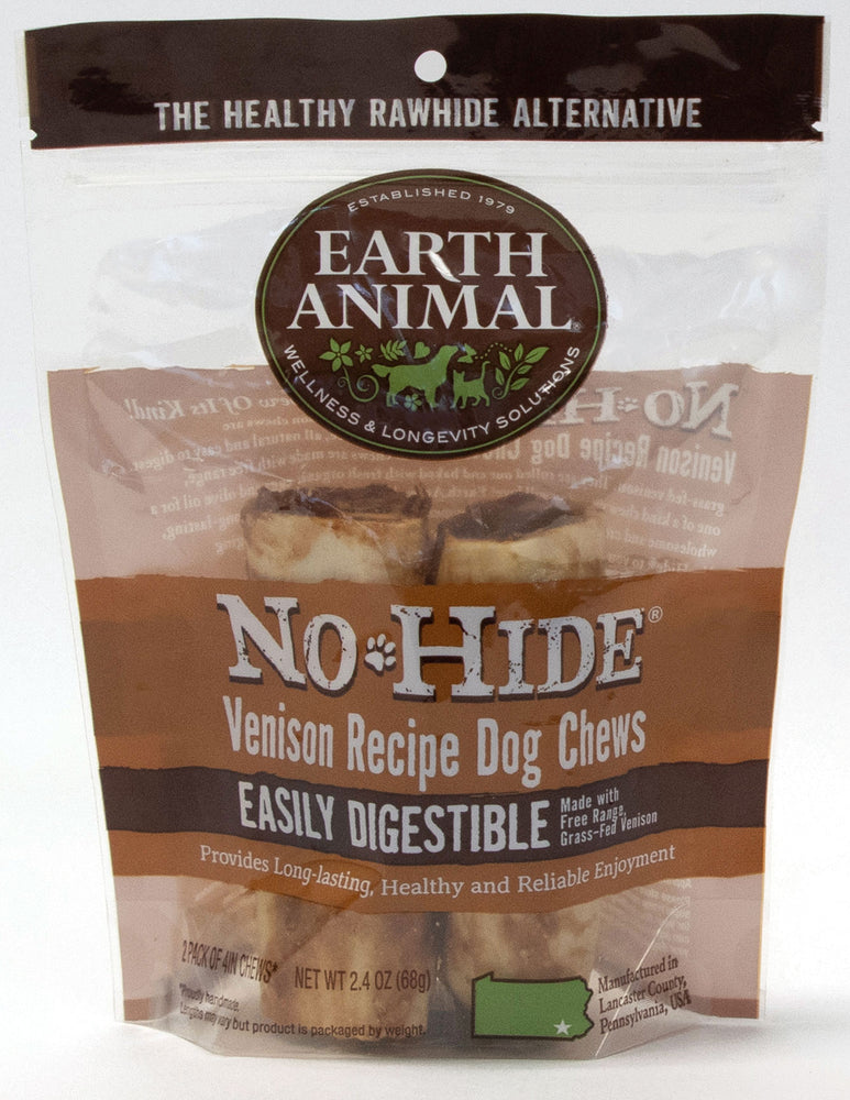 EARTH ANIMAL NO-HIDE VENISON 4″ CHEWS