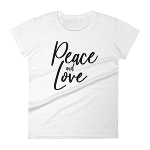 Peace & love  Mantra Women's short sleeve t-shirt