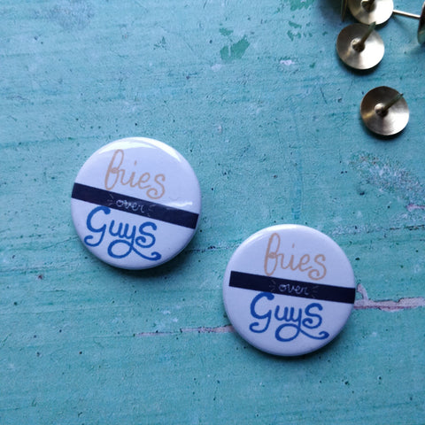 Fries over Guys Badges - fay-dixon-design