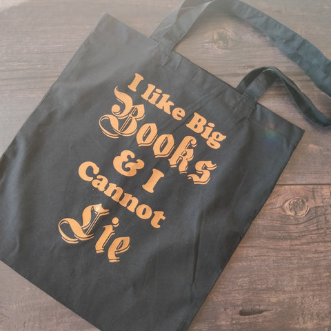I Like Big Books & I Cannot Lie Tote Bag - fay-dixon-design