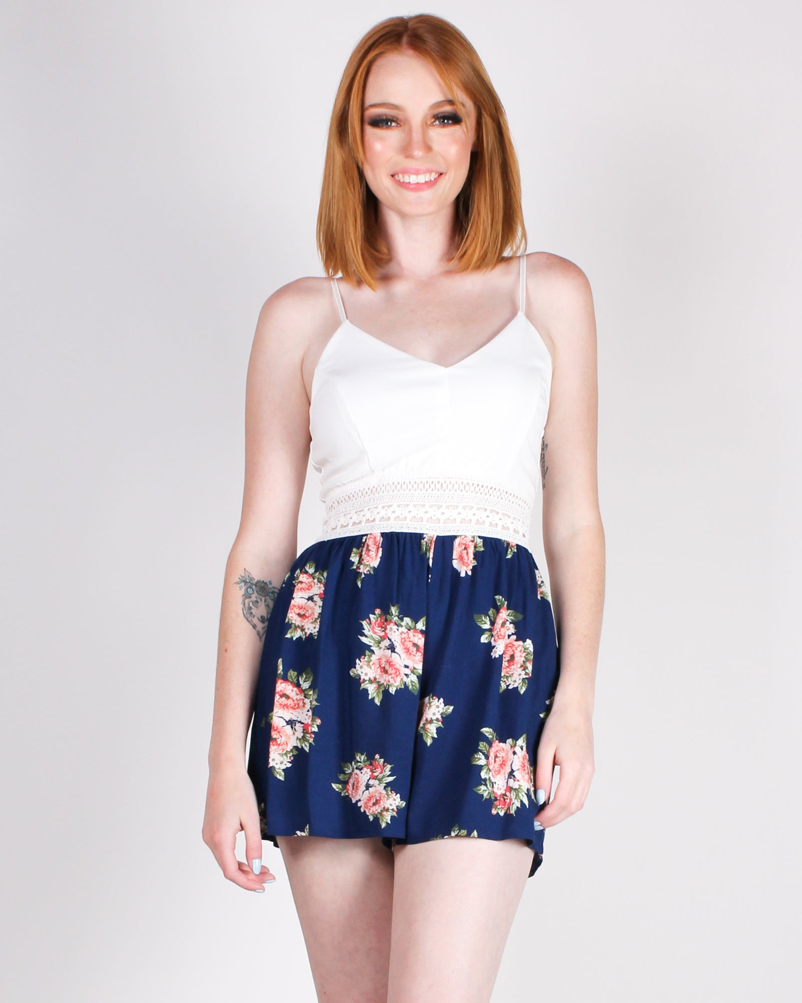 Floral Revolution Sundress (Navy)