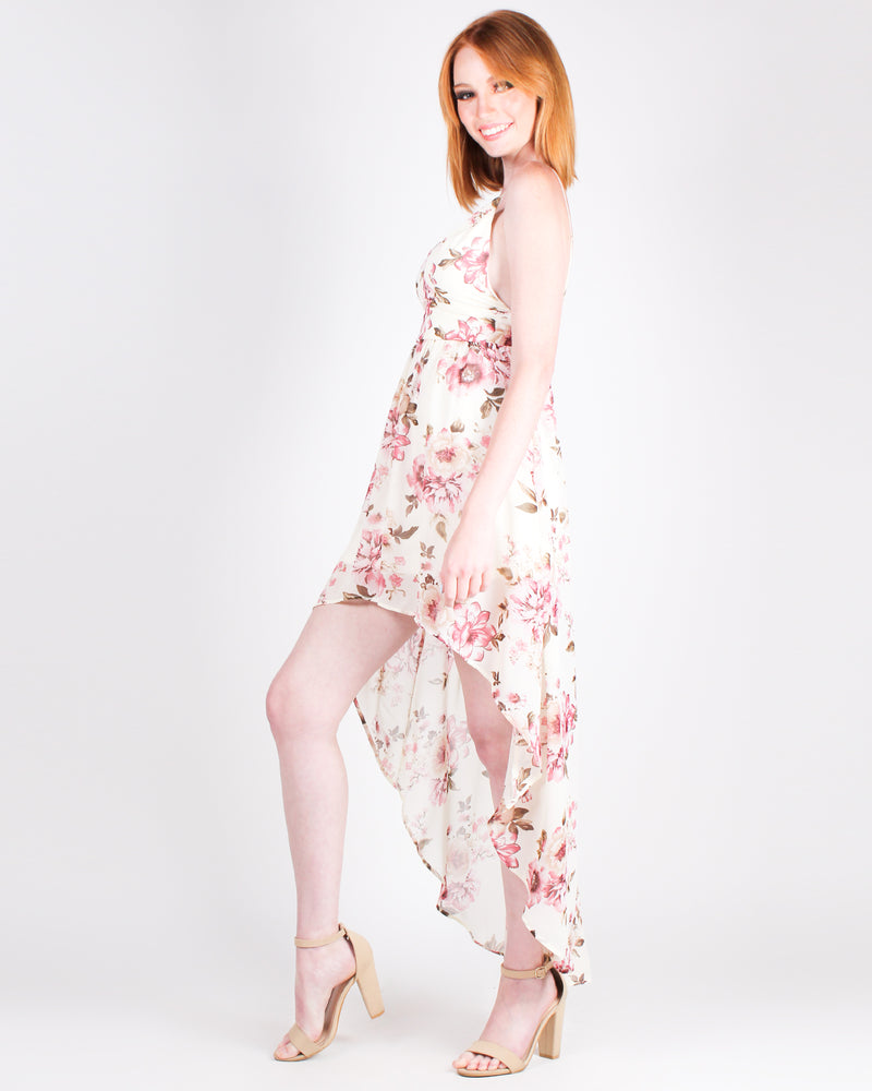 Never Enough Floral Maxi Dress (Cream)